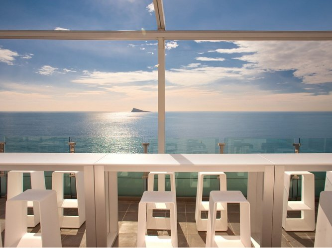 Terrasse villa del mar hôtel benidorm